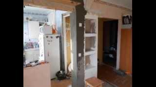 Прячем холодильник в кухне, дизайн кухни 5,5 кмм