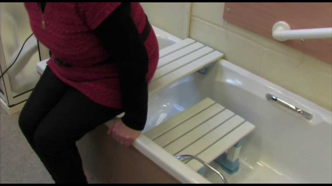 How To Use a Bath Board and Seat (HD) - YouTube