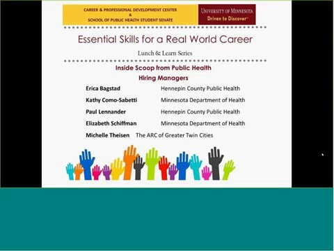 Essential Skills for a Real World Career: Inside Scoop from Public Health Hiring Managers
