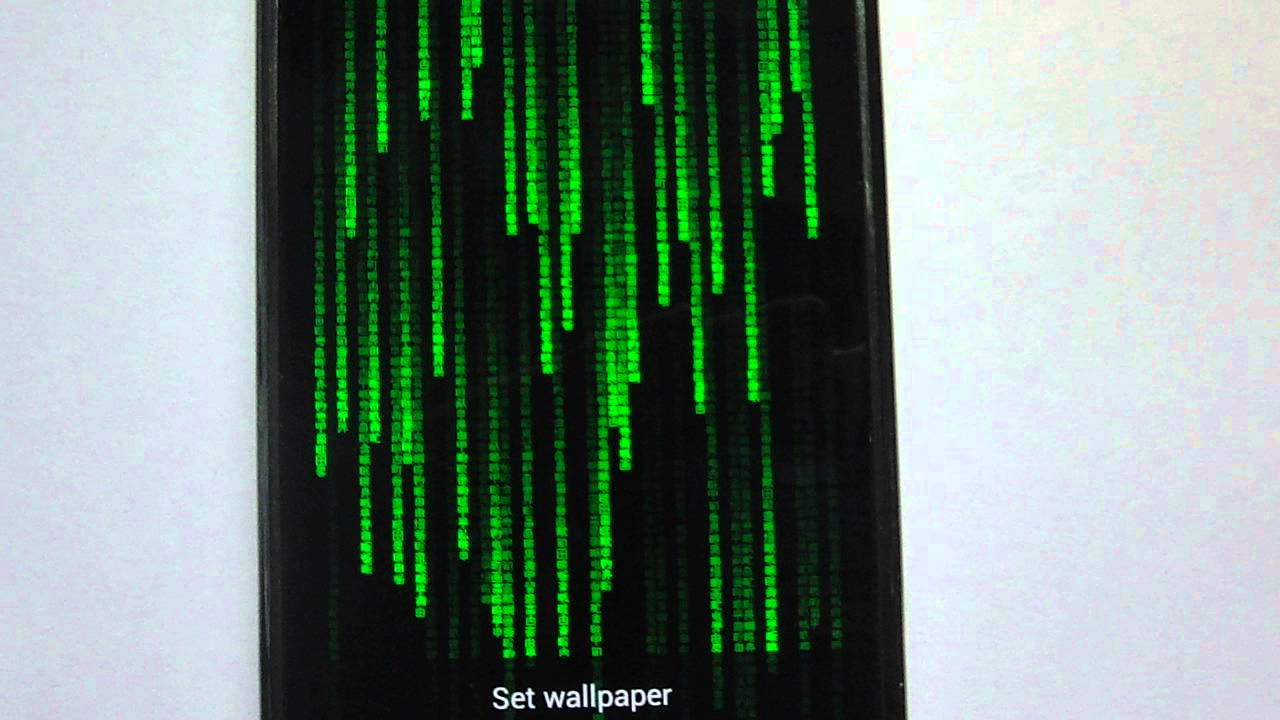 Matrix Live Wallpaper - YouTube