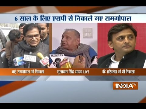 SP Split Imminent: Miffed Mulayam Singh Sacks Akhilesh Yadav From All Party Posts For Six Years
