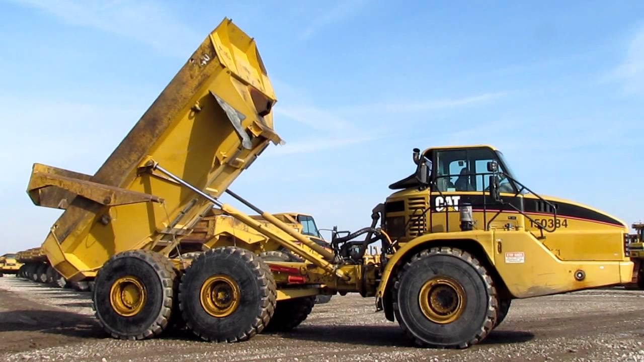 End Dump Truck >> Cat 740 6x6 Articulated End Dump Truck W Erops Youtube