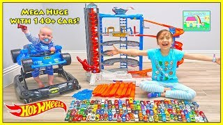 140+ Toy Cars on Giant Super Ultimate Garage Playset!