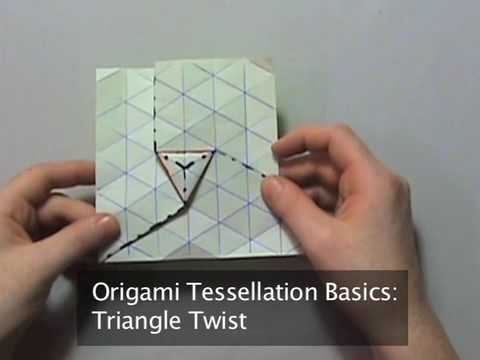 Origami Tessellation Basics Triangle Twist