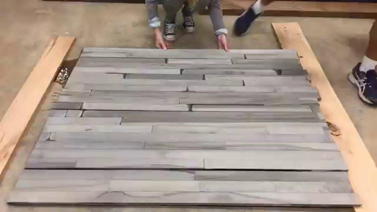 TimeLapse: #Driftwood gray look on HARD MAPLE flooring ...