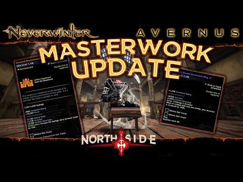 Neverwinter Mod 19 – Masterwork Update Mastered Weapons Rings Gear Showcase & Comparison Northside