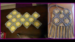 13 ADET MOTİFLİ KÜÇÜK ÖRGÜ ÇANTA NASIL YAPILIR?TEK PARÇA #crochetbag #örgüçanta