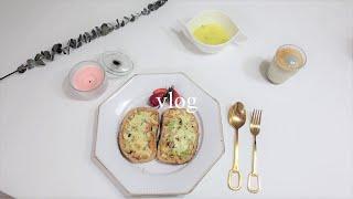 vlog#32 요리 브이로그] 대파명란바게트 만들며 먹…