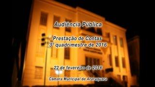 Prestação de Contas 3º Quadrimestre de 2016 - 22/02/2017
