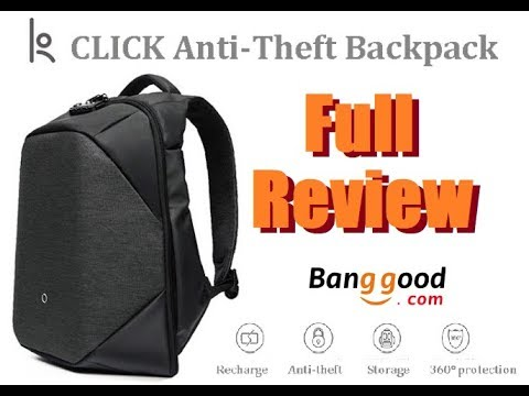 Click 15.6in Laptop Security Backpack from Banggood.com