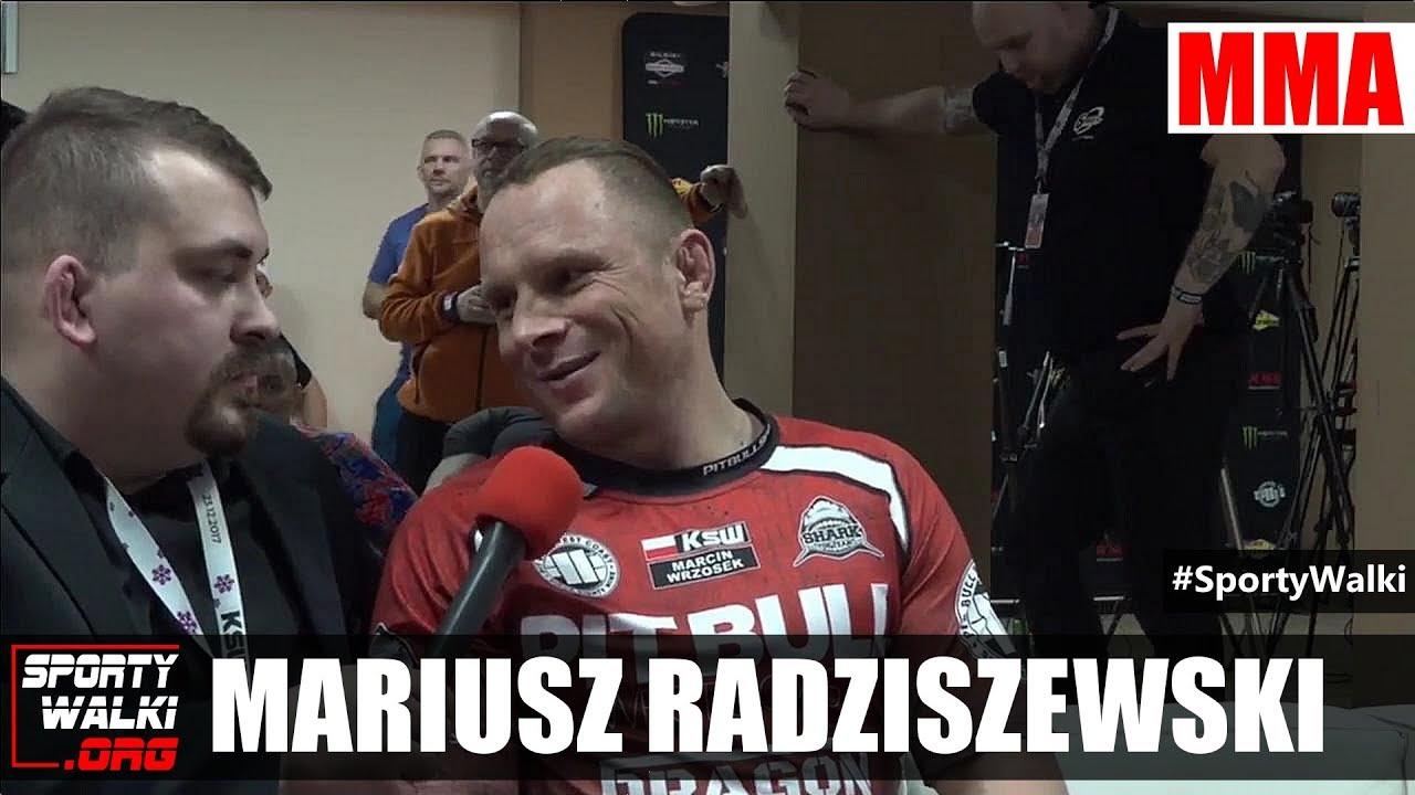 KSW 41: Mariusz Radziszewski w studio gali w Katowicach