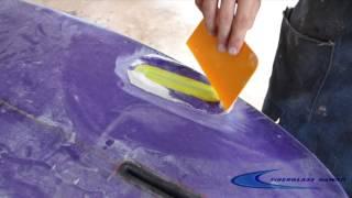 Futures Fin Box Repair Using Aluzine Epoxy Resin