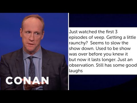 "Matt Walsh's Mom Doesn't Approve Of The Profanity On ""VEEP""  - CONAN on TBS"