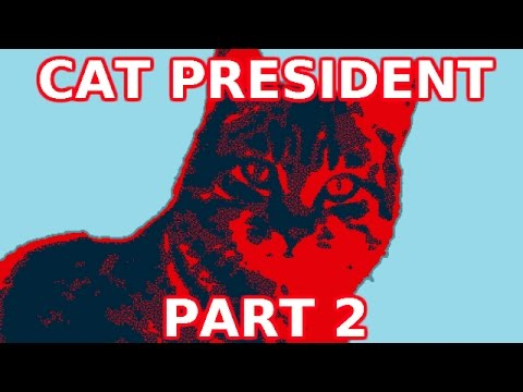 Cat President - Part 2 - Cats vs Zombies