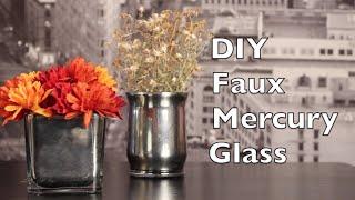 Diy Mercury Glass | Faux Mercury Glass Tutorial
