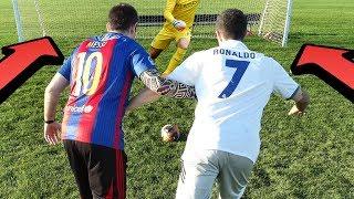 Cristiano Ronaldo vs. Messi - 1v1 Football Challenge | In Real Life!