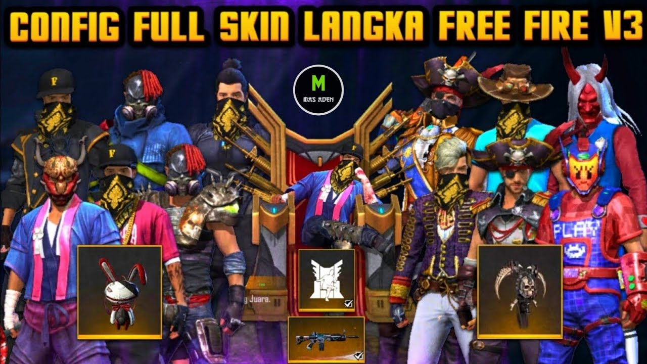 WAJIB NONTON❗DATA CONFIG FULLPACK SET BUNDLE ELITE PASS OLD PRO PLAYER! Garena Free Fire
