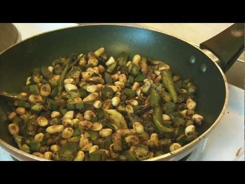 Cook with Lov - How to make okra peanut fry