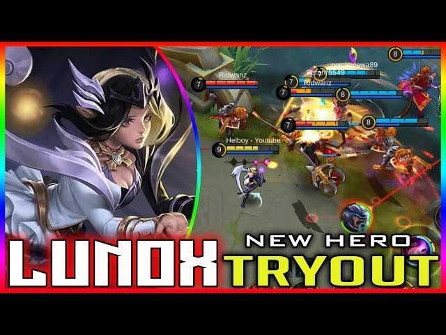 Lunox Light & Chaos [New hero Tryout] Mobile legends gameplay