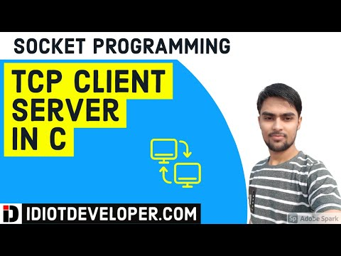 TCP Client Server Program in C - YouTube