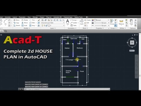 How to Create Complete 2d HOUSE PLAN in AutoCAD, Site Plan of House - AutoCAD tutorial