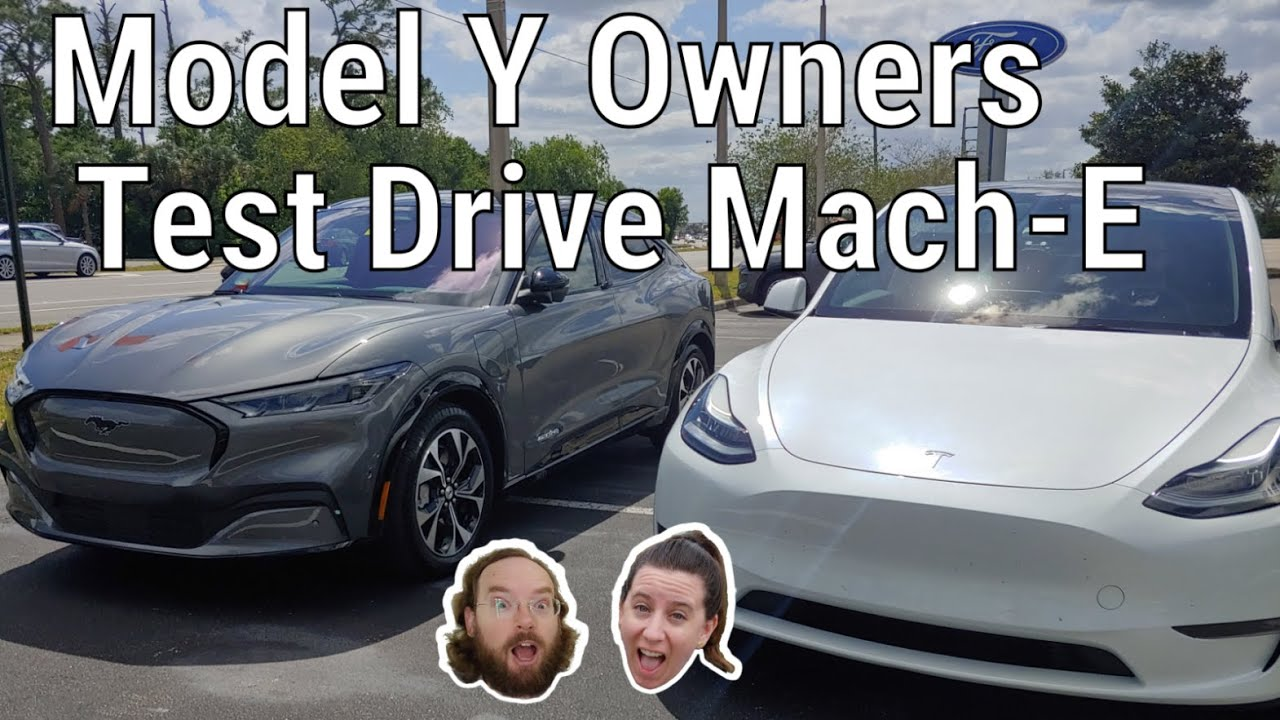 Tesla Model Y Owners Test Drive the Ford Mustang Mach-E