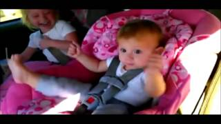 Funny Babies Crazy Baby Dance in car
