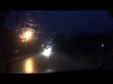 Driving In Severe Thunderstorm In Fayette County, Georgia