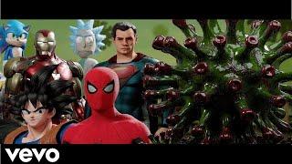 HEROES VS CORONAVIRUS - Alan Walker Spectre (MUSIC VIDEO)