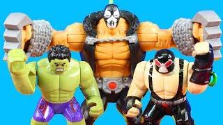 Lego Marvel Super Heroes Hulk Family Smashes Imaginext Bane Family Hulk Smash