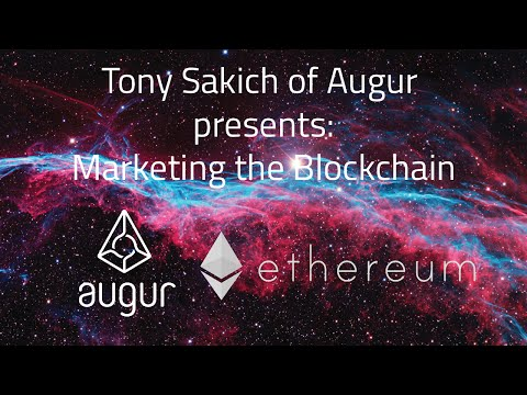 Marketing  Blockchain & Ethereum dApps: Tony Sakich of Augur