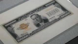 American Artifacts Clip: $100,000 Currency Note
