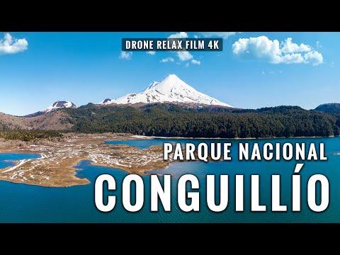 Parque Nacional Conguillío desde el aire en 4K con Música relajante