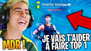 "I hired ""GOTAGA"" to help me top 1 on fortnite, that's what happened ..."