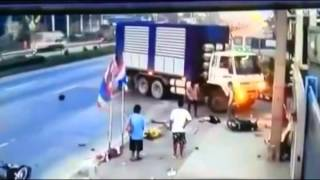 Repeat youtube video Big Truck makes Short Work of a Scooter in Horrific Accident   theync com