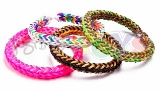 How to Make a 3D Triple Dimension EASY Reversible Rainbow Loom Bracelet - Three Sides