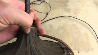 DIY Rewiring an Antique Lamp with Fabric Covered Cord