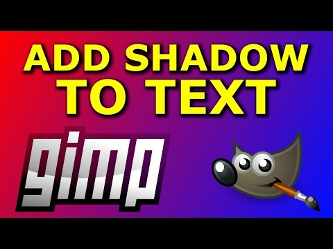 How to Add Shadow to Text in GIMP thumbnail