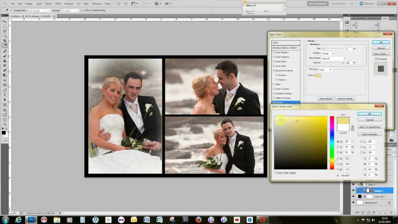 make a storybook wedding page template using adobe photoshop youtube