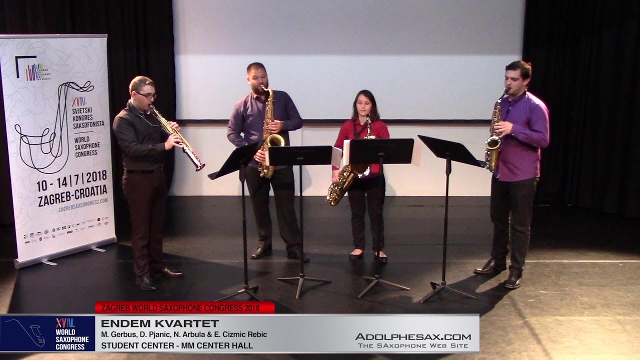 Fragmenti zavicaja by Deni Pjanic   Endem Kvartet   XVIII World Sax Congress 2018 #adolphesax