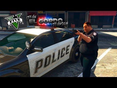 GTA V POLICIA MODS - EL GORDO POLICIA DE LOS SANTOS ! - ElChurches