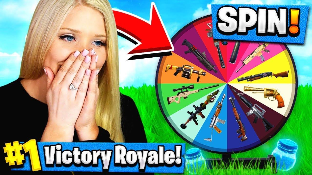 GIRLFRIEND SPIN-THE-WHEEL WEAPONS CHALLENGE in FORTNITE!