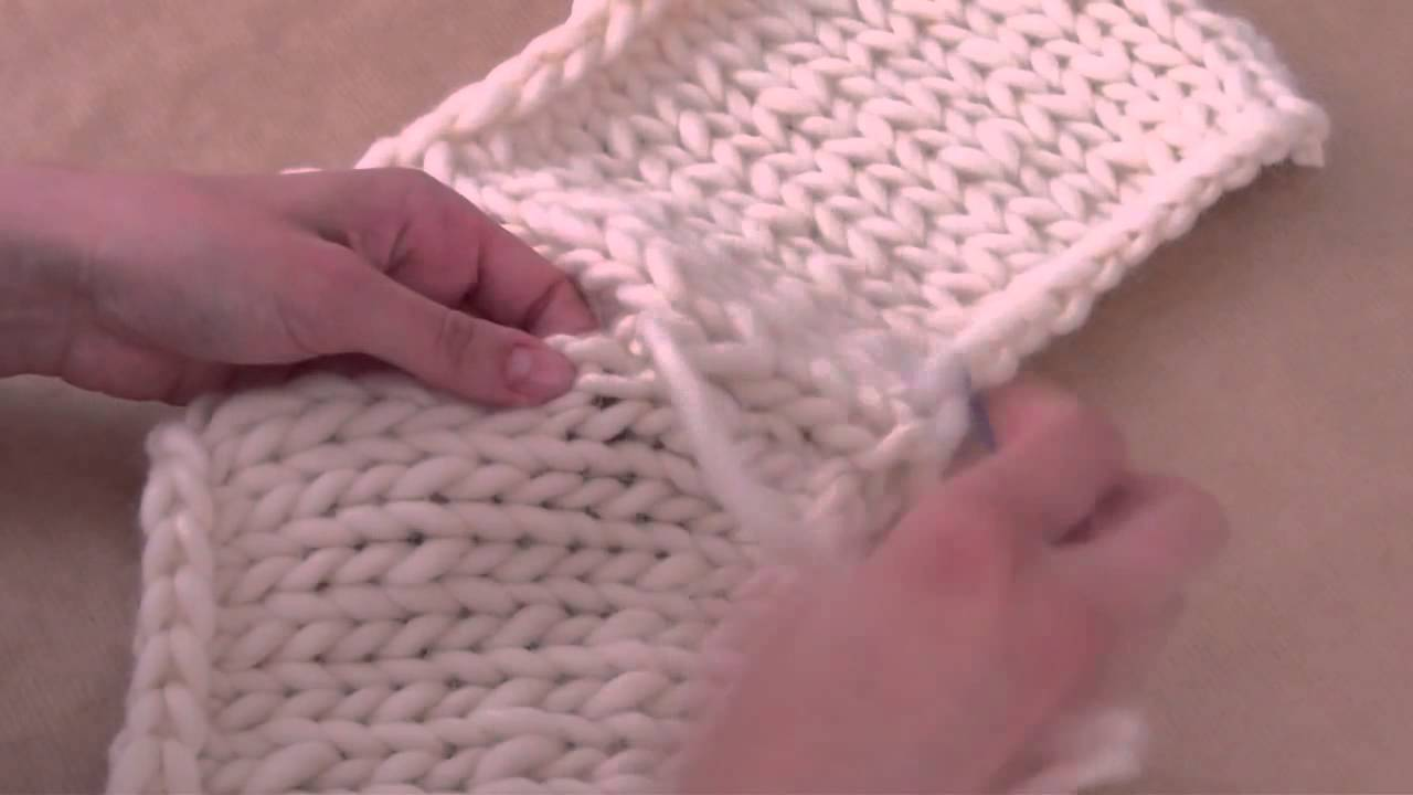 Strickarbeit Zusammennähen Stricken Für Anfänger We Are Knitters