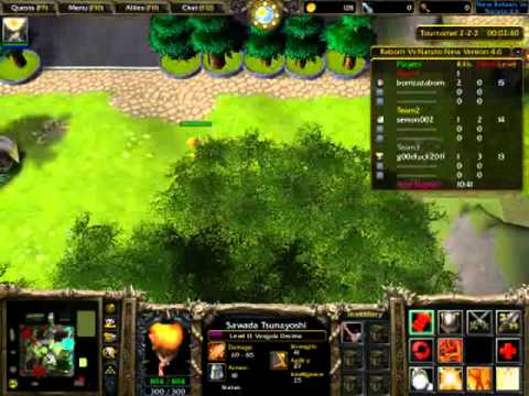 DoF-Warcraft III Map Reborn vs naruto 4.6 #3
