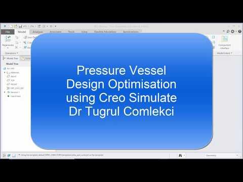 Pressure Vessel Design Optimisation using Creo Simulate 2D Axisymmetric FEA