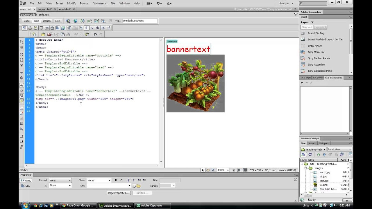 templates for dreamweaver cs6 dreamweaver cs6 templates youtube