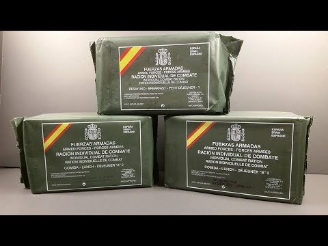 2015 Spanish Individual Combat Ration 24 Hour Set MRE Review Marathon Meal Ready to Eat Taste Test