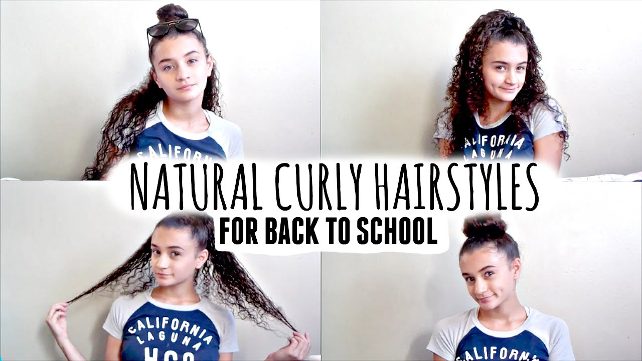 8 Hairstyles For Curly Hair: 4 Easy Back To School Hairstyles For Natural Curly Hair
