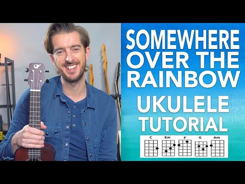 UKE - Somewhere Over The Rainbow UKULELE Lesson Tutorial - Easy Songs how to play