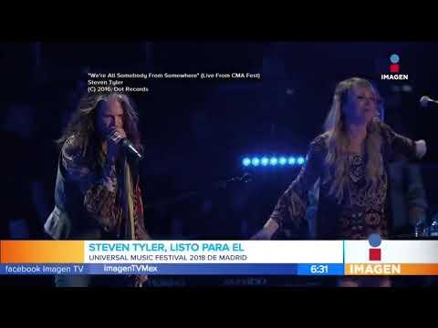 Steven Tyler listo para el Universal Festival Music 2018 en México | Noticias con Paco Zea
